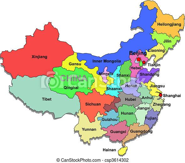Čínská mapa - csp3614302