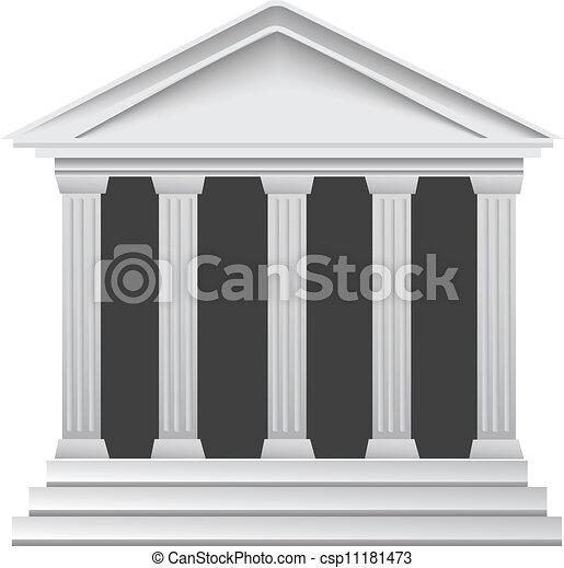 řečtina, dějinný, starobylý, sloupec, násep - csp11181473