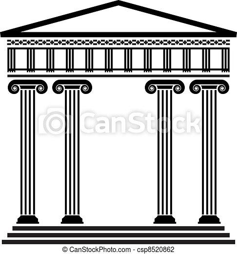 řečtina, vektor, starobylý, architektura - csp8520862
