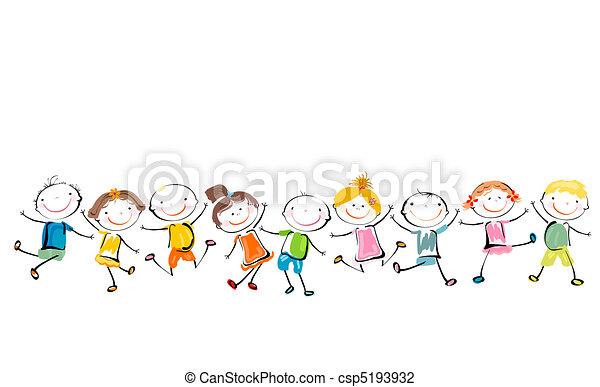 šťastný, děti, hraní - csp5193932