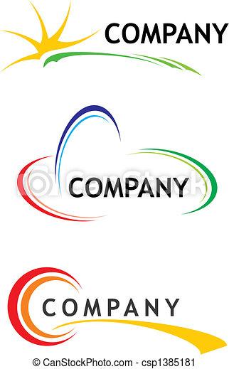 šablona, emblém, korporační - csp1385181