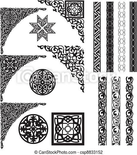 Arabské ornamenty a dělníci - csp8833152