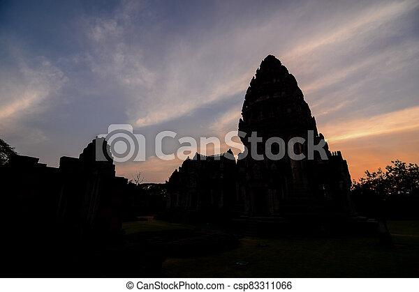 asie, phimai, thai, troska, fotografie, thajsko, překrásný, zaujatý - csp83311066