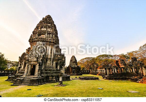 asie, phimai, thai, troska, fotografie, thajsko, překrásný, zaujatý - csp83311057