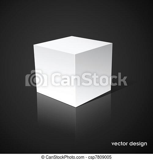 běloba trojmocnina, temný grafické pozadí - csp7809005