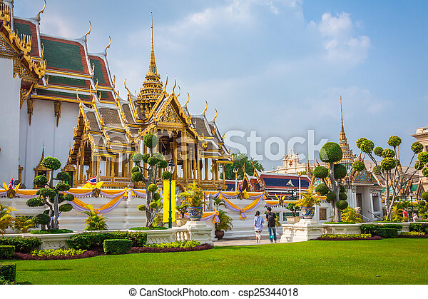 bangkok, palác, královský, asie, důležitý, thajsko - csp25344018