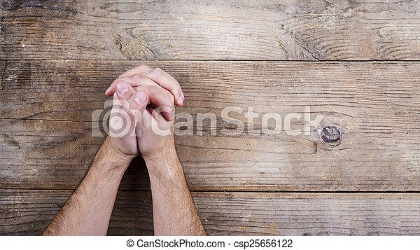 Bible a modlitební ruce - csp25656122