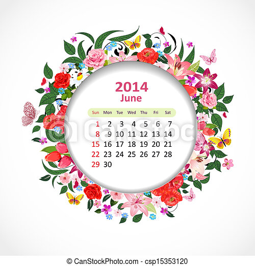 Calendar pro rok, pone - csp15353120