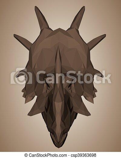 dinosaurus, hlavička - csp39363698