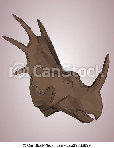 dinosaurus, hlavička - csp39363699