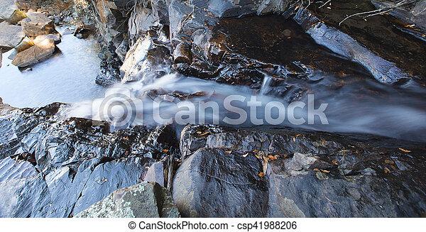dlouho, vodopád, malý, řeka krajinomalba, odhalení - csp41988206