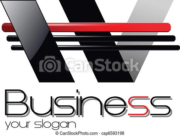 emblém, design - csp6593198