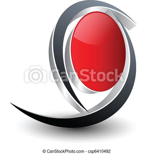 emblém, design - csp6410492