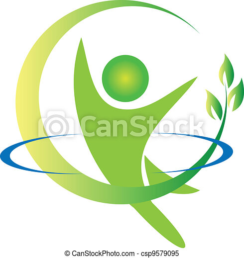 emblém, vektor, zdraví, druh - csp9579095