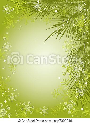 grafické pozadí, vektor, vánoce - csp7302246