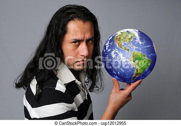 Hispánec drží zemi - csp12012955