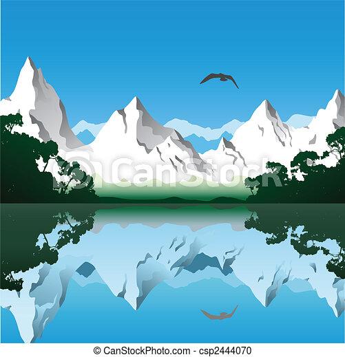 Horská krajina - csp2444070