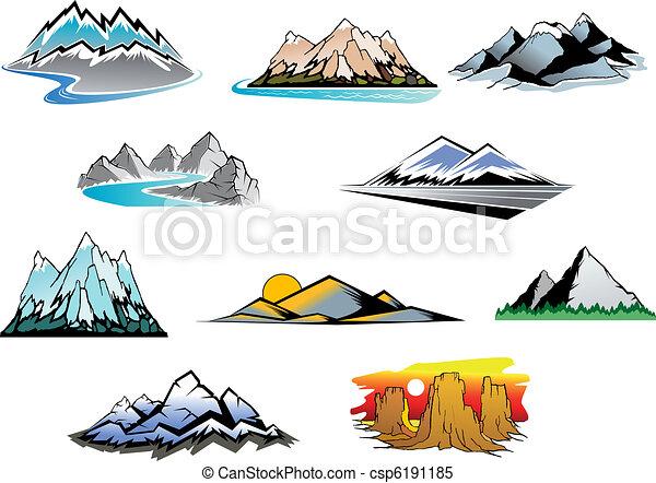 Horské vrcholy - csp6191185