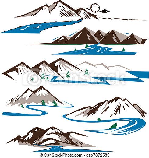 Hory a řeky - csp7872585