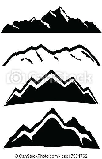 Hory vrcholí krajina - csp17534762
