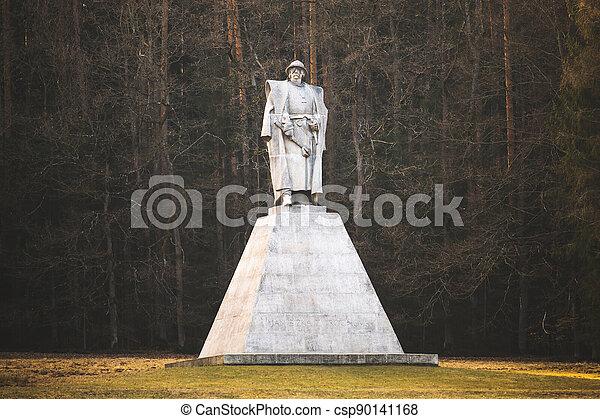 hrdina, leden, kalich, čech, pomník, trocnov, jan, zizka, národnostní, zizka, socha - csp90141168
