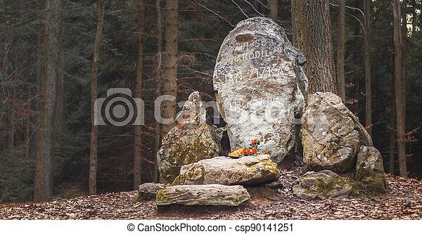 hrdina, leden, kalich, čech, pomník, rodiště, trocnov, jan, zizka, národnostní, zizka - csp90141251