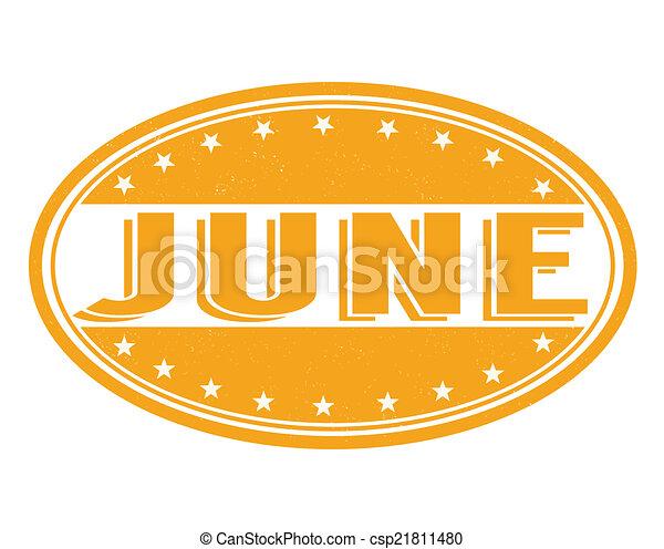 June razítko - csp21811480