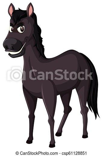 kůň, čerň, běloba grafické pozadí - csp61128851