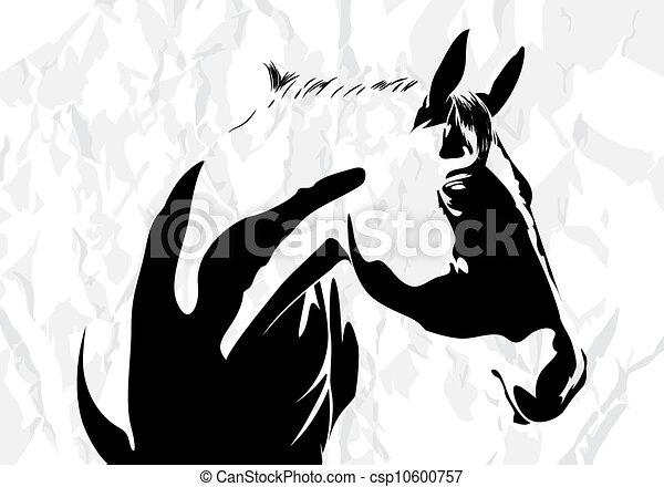 kůň, vektor - csp10600757