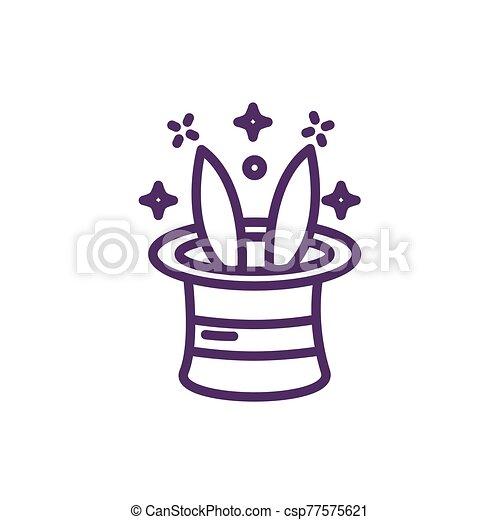 Kouzelný klobouk s kouzelnými ušimi. Klobouk s kouzelnickými ušimi ikony  ikony. | CanStock