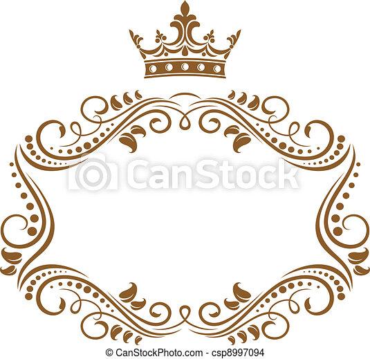 Královský rám s korunou - csp8997094