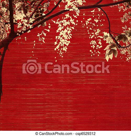 květ, neposkvrněný, čerň, slatted, grafické pozadí - csp6529312