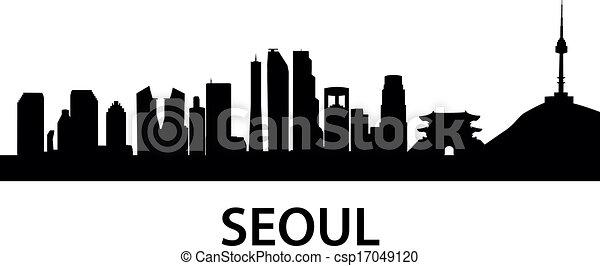 městská silueta, seoul - csp17049120