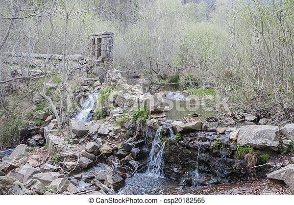 malý, řeka, vodopád - csp20182565