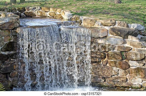 malý, vodopád - csp13157321