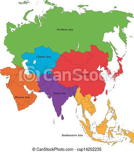 mapa, asie - csp14202235