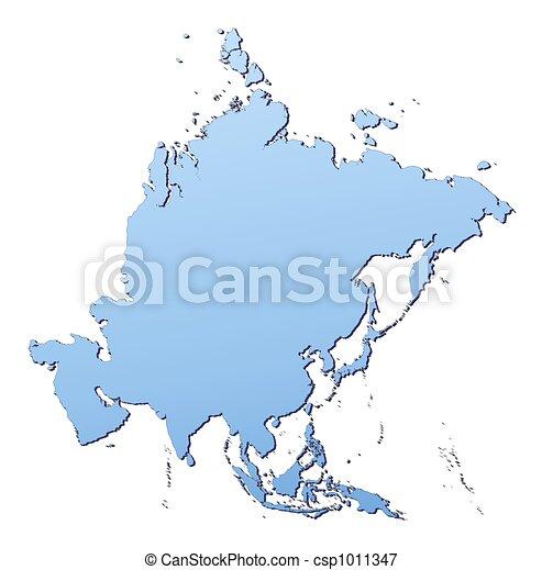 mapa, asie - csp1011347