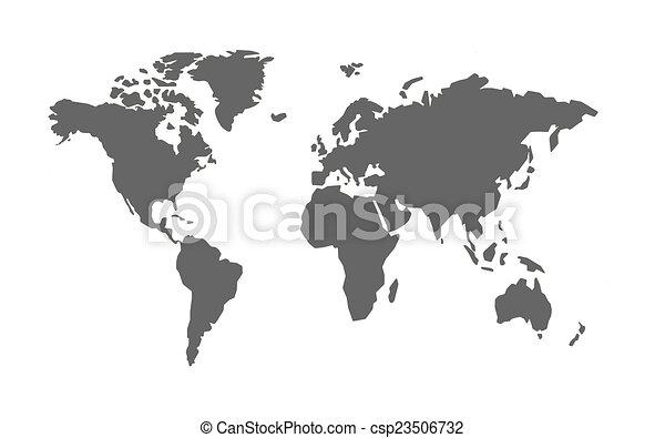 mapa světa - csp23506732
