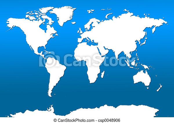 mapa světa - csp0048906