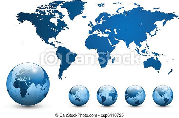mapa, vector., společnost - csp6410725