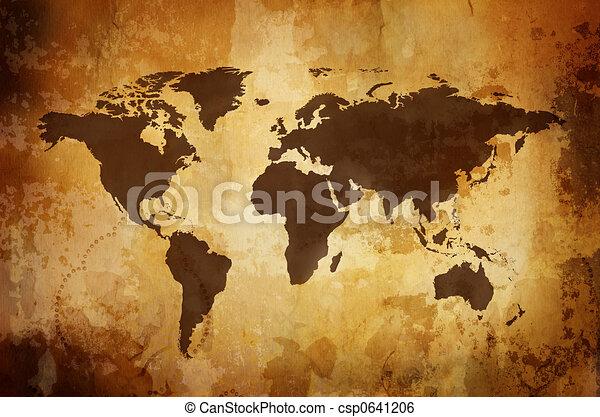 mapa, vinobraní - csp0641206