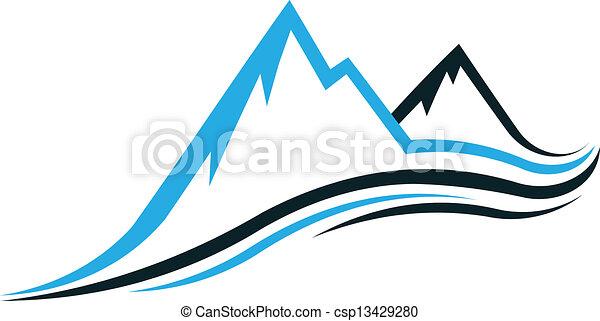 Mountain swoosh - csp13429280