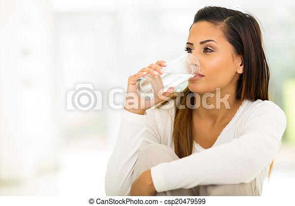 namočit, pití, manželka, mládě - csp20479599