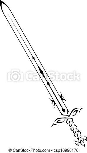 neposkvrněný, meč, grafické pozadí - csp18990178