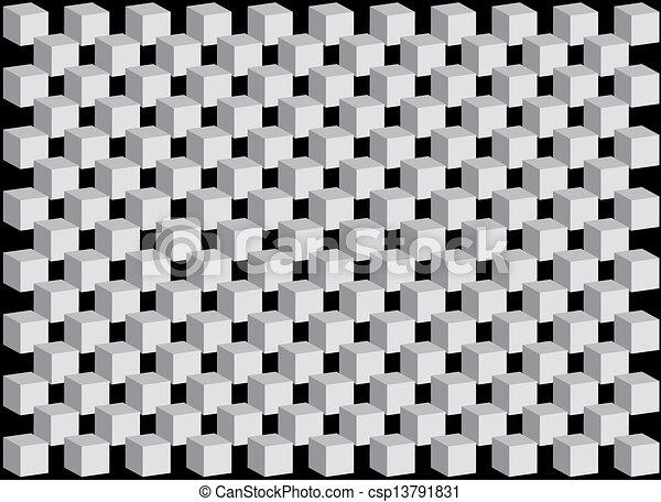 neposkvrněný, trojmocnina, temný grafické pozadí - csp13791831