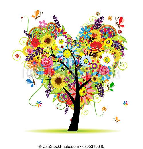 nitro, léto, květinový, strom, forma - csp5318640