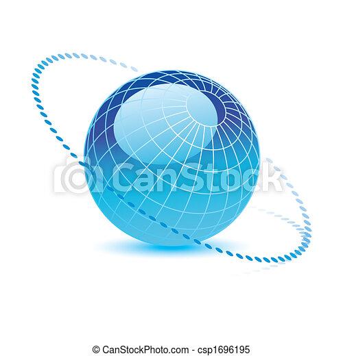 oplzlý koule, vektor - csp1696195