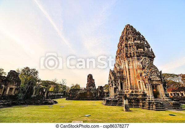 překrásný, asie, thajsko, phimai, troska, thai, fotografie, zaujatý - csp86378277