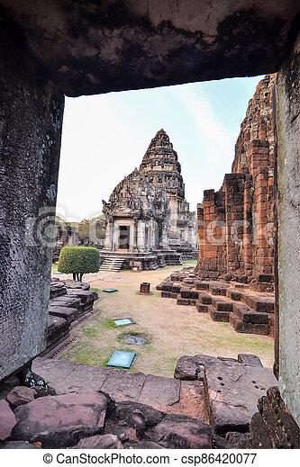 překrásný, asie, thajsko, phimai, troska, thai, fotografie, zaujatý - csp86420077