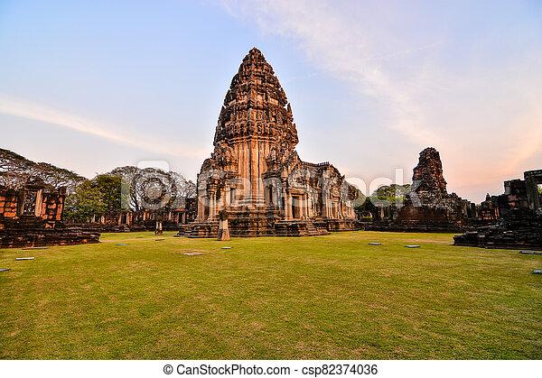 překrásný, fotografie, thajsko, phimai, troska, asie, zaujatý, thai - csp82374036